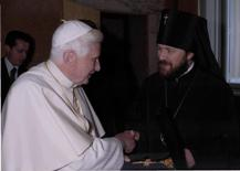 Pope Benedict and Archbishop Hilarion