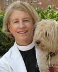 Rev. Sally Bingham with Obi