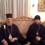 Archbishops Chrysostomos (left) and Hilarion