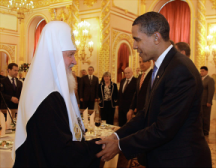 Patriarch Kirill with President Obama in Moscow earlier this year