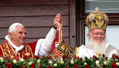 Pope Benedict and Pat. Bartholomew