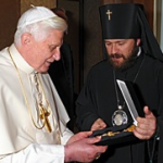 Pope Benedict and Abp. Hilarion