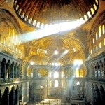The Church of Agia Sophia -- Holy Wisdom -- in Constantinople.