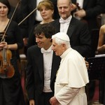 Pope Benedict at Russian Concert