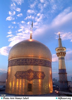Gold dome of Imam Reza's shrine, Mash'had