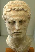Bust of Antiochus IV at the Altes Museum in Berlin.