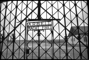 The gates of Dachau.