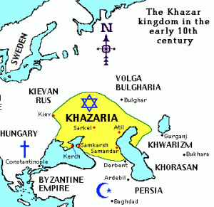 Map of the Khazar Kingdom.
