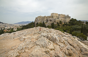 Mars Hill (Areopagus), where the Apostle Paul addressed the Athenian philosophers (Acts 17).
