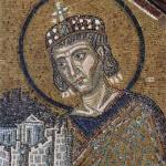 Emperor Constantine (Byzantine mosaic ca. 1000 from the Hagia Sophia)
