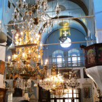 Some of the interior of the church chappel at the famous Saydnaya Monastery, one of the central holy places of the Orthodox Christians of Syria.