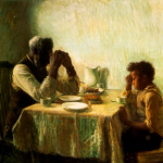 The Thankful Poor by Henry Ossawa Tanner (1859-1937)