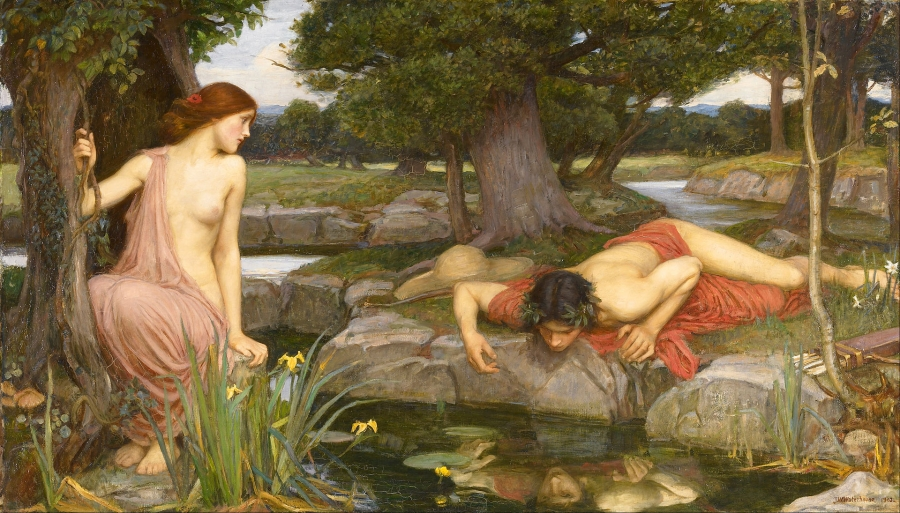 """Echo and Narcissus"" painted by John William Waterhouse in 1903"