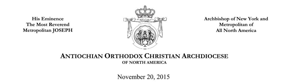 Antiochian Archdiocese Letterhead