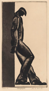 Unemployed (1930) by Alexander Stavenitz. (Alvia Urdaneta/ Mary and Leigh Block Museum of Art, Northwestern University, 1993)