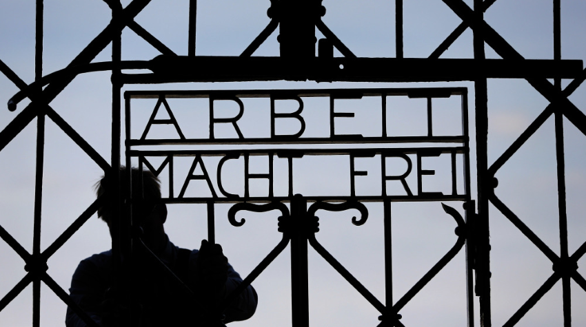The Gate to Dachau Concentration Camp --