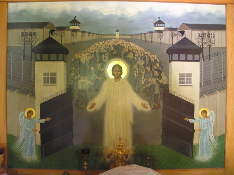 Icon of Christ Freeing the Prisoners of Dachau (Russian Orthodox Chapel located in Dachau)